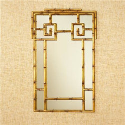 Gold Bamboo Mirror - This is the epitome of chinoiserie chic. I'd love to see this in a girl's room with soft peach and pink accents.