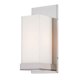 Kovacs - Kovacs P1700-613 1 Light Wall Sconce - Kovacs P1700-613 Single Light Wall SconceAdd a touch of modern style to your bathroom with this sleek single light wall sconce. Featuring a polished nickel finish and cube shaped Mitered glass that's white inside, this ADA compliant and damp location rated fixture will enhance the look of any decor.Kovacs P1700-613 Features: