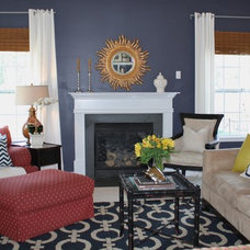 Eclectic Family Room by Emily A. Clark