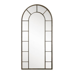 Uttermost - Uttermost Dillingham Mirror X-50501 - This stately, arched mirror features an aged black metal frame with light rust distressing.