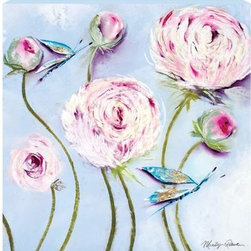 WL - Wild Flowers Wall Art Painting with Pink Peonies and Dragonfly Design - This gorgeous Wild Flowers Wall Art Painting with Pink Peonies and Dragonfly Design has the finest details and highest quality you will find anywhere! Wild Flowers Wall Art Painting with Pink Peonies and Dragonfly Design is truly remarkable.