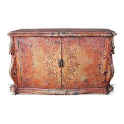 Koenig Collection - Old World Buffet Pardo, Venetian Distressed - Old World Buffet Pardo