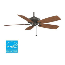 "Fanimation - Fanimation Edgewood Deluxe 60"" 5 Blade Energy Star Ceiling Fan - Blades Included - Included Components:"