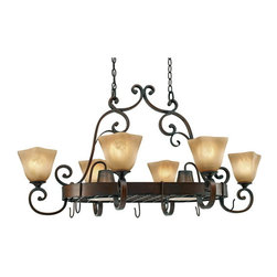 Golden Lighting - Golden Lighting 3890-PR62 GB 8 Light Pot Rack - Classic Mediterranean style with a casual look