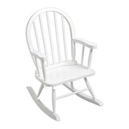 None - Gift Mark Windsor Home Children's White Rocking Chair - A cute,small and contemporary counterpart of the traditional rocking chair,this piece is sure to give your child hours of enjoyment. Hand-carved from solid wood and finished in white,this chair has a charming heirloom quality.