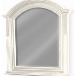 The Ivory Company - Chesapeake Mirror - Often called the age of elegance, Georgian style is notable for its movement towards cleanness of line, excellence in materials, and a certain understated style. You can see these aspects in this Mirror we have chosen. The quiet dignity of the Georgian style defines this elegant Mirror. With the upper curve and the attached fluted decorative columns, this is truly a splendid piece. A narrow shelf below the mirror provides definition.