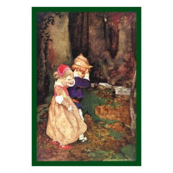 "Buyenlarge.com, Inc. - Babes in the Woods - Paper Poster 12"" x 18"" - Jessie Willcox Smith (1863 - 1935) was an American illustrator famous for her illustrations for children's books. She captured the innocence of children and worked for many magazines as well as book publishers."