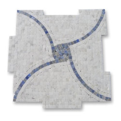 "GlassTileStore - Windmill Blue Macauba and Ariston Marble Tile - Windmill Blue Machauba and Ariston Marble Tile             This hand-made micro marble mosaic was handlely single cut by hand and will provide endless design possibilities from contemporary to classic. It creates a great focal point to suit a variety of settings.          Color: Blue Macauba and Ariston   Material: Marble   Finish: Polished   Sold by the Sheet- each sheet measures 12""x12"" (1 sq.ft.)   Thickness: 10mm   Please note each lot will vary from the next.               - Glass Tile -"