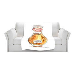 DiaNoche Designs - Throw Blanket Fleece - Chantilly Perfume - Original artwork printed to an ultra soft fleece blanket for a unique look and feel of your living room couch or bedroom space. Dianoche Designs uses images from artists all over the world to create Illuminated art, canvas art, sheets, pillows, duvets, blankets and many other items that you can print to. Every purchase supports an artist!