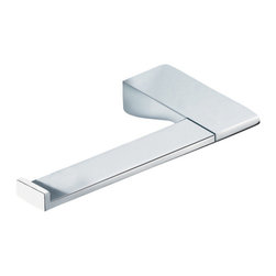 Gedy - Square Polished Chrome Toilet Roll Holder - Square toilet roll holder made in brass with polished chrome finish.