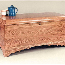 Fifthroom - Waterfall Oak Chest - With its hand construction from Oak, lovely wood stain, and smooth-as-glass lacquered finish, this Waterfall Oak Chest is simply magnificent.  Ideal for storing blankets, clothes, linens, sheets, and keepsakes. A superb heirloom, this chest will be a source of pride for generations to come.