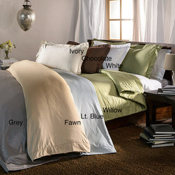 None - Hemstitch 400 Thread Count Solid Cotton 3-piece Duvet Cover Set - This 100-percent cotton solid duvet cover set offers a classic aesthetic appeal that matches any style of decor. Available in a variety of colors and featuring a 400 thread count,this duvet cover set is both stylish and comfortable.