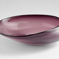 Cyan Design - Purple Oyster Bowl - Large - Large purple oyster bowl - purple