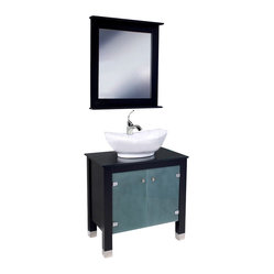 Fresca Emotivo Modern Bathroom Vanity w/White Vessel Sink & Waterfall Faucet