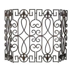 Cyan Design - Cyan Design Wrought Iron Fire Screen, Rustic Iron - -Rustic Iron Finish