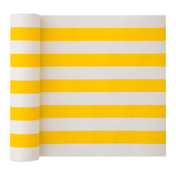 MYdrap - Cotton Striped Napkin, Lemon Stripe - - MYdrap Cotton Printed Luncheon Napkins on a Roll are made of 100% cotton.