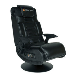 "X Rocker - Pro Series Gaming Chair - Features: -Ergonomic design with full back support.-Side control panel with volume, bass control, vibration control, input/output jacks, and band switch.-Headphone jack for personal use.-Wireless audio transmission.-Speakers and Subwoofer.-Distressed: No.-Collection: X Rocker.-Upholstery Color: Black.-Base Finish: Black.-Material: Padding: Foam, Cover: Vinyl, Frame: Wood.-Hardware Material: Metal Staples.-Connection Compatibility: Xbox, Playstations, Gameboy, MP3/CD/DVD and Home Theatre.-Wireless Transmission Capability: Yes.-Powered: Yes -Power Source: Electricity.-Battery Type: AA.-Battery Included: No.-Power Requirement: AC 100-240V, 50/60Hz.-Ampere Requirement: 1.5 Amps.-Power Cord Included: No.-Power Source: Electricity.-Battery Type: AA.-Battery Included: No.-Power Requirement: AC 100-240V, 50/60Hz.-Ampere Requirement: 1.5 Amps.-Power Cord Included: No.-Power Source: Electricity.-Battery Type: AA.-Battery Included: No.-Power Requirement: AC 100-240V, 50/60Hz.-Ampere Requirement: 1.5 Amps.-Power Cord Included: No..-Adjustable Headrest: No.-Swivel Base: Yes.-Tilt Base: Yes.-Vibration: Yes -Adjustable Vibration: Yes.-Adjustable Vibration: Yes.-Adjustable Vibration: Yes..-Pedal Set Included: No.-Steering Controls: No.-Speakers: Yes -Number of Speakers: 2.-Concealed Speakers: Yes.-Adjustable Volume: Yes.-Adjustable Bass or Treble: Yes.-Subwoofer: Yes.-Number of Speakers: 2.-Concealed Speakers: Yes.-Adjustable Volume: Yes.-Adjustable Bass or Treble: Yes.-Subwoofer: Yes.-Number of Speakers: 2.-Concealed Speakers: Yes.-Adjustable Volume: Yes.-Adjustable Bass or Treble: Yes.-Subwoofer: Yes..-Remote Control: No.-Built In Controls: Yes.-Input or Output Jacks: Yes.-Headphone Jack: Yes.-Controller Storage: No.-Cup Holder: No.-Foldable: Yes.-Flip Up Arms: No.-Ergonomic Design: Yes.-Adjustable Height: No.-Swatch Available: No.-Recycled Content: No.-Eco-Friendly: Yes.-Product Care: Wipe clean with a damp cloth.Specifications: -ISTA 3A Certified: No.Dimensions: -Dimensions: 40 - 58'' H x 24'' W x 24'' D.-Overall Height - Top to Bottom: 40.55"".-Overall Width - Side to Side: 24.8"".-Overall Depth - Front to Back: 35.04"".-Folding : -Folded Height - Top to Bottom: 22.83"".-Folded Width - Side to Side: 22.05"".-Folded Depth - Front to Back: 28.54"".-Folded Height - Top to Bottom: 22.83"".-Folded Width - Side to Side: 22.05"".-Folded Depth - Front to Back: 28.54"".-Folded Height - Top to Bottom: 22.83"".-Folded Width - Side to Side: 22.05"".-Folded Depth - Front to Back: 28.54""..-Overall Product Weight: 53 lbs.Assembly: -Assembly Required: Yes.-Additional Parts Required: No.Warranty: -Manufacturer provides 30 days warranty.-Product Warranty: 30 Days."