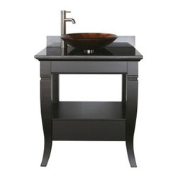 Avanity - Avanity MILANO-VS30-BK-VE Milano 30-in. Single Bathroom Vanity Multicolor - AVC0 - Shop for Bathroom from Hayneedle.com! The Avanity Milano 30-in. Single Bathroom Vanity is like a good husband handsome and eager to please. The solid birch frame with its black finish looks great in any bathroom and features a soft-close drawer and open shelf for all your storage needs. The granite countertop is fitted for a vessel-style sink available in metallic copper or metallic silver. Height levelers are included for uneven flooring. An optional beveled mirror is also available (30W x 1.3D x 26H inches) with a matching birch-and-black frame.About Avanity CorporationAvanity's goal has always been to provide the public with the best products possible at the fairest prices. To this end their customer service style is about listening to their customer not just hearing them. Avanity is confident in their products ensuring each of them has a one-year manufacturer's warranty. Avanity also takes note of increasing market trends to stay ahead of the game and provide the most cutting-edge products available.