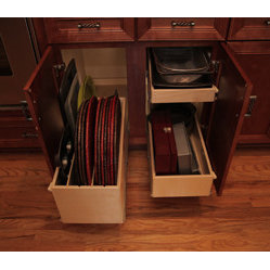 Pull Out Tray Bin and Pull Out Shelves