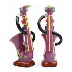 ATD - 4.25 Inch Multicolored Saxophone Musical Muse Salt and Pepper Shakers - This gorgeous 4.25 Inch Multicolored Saxophone Musical Muse Salt and Pepper Shakers has the finest details and highest quality you will find anywhere! 4.25 Inch Multicolored Saxophone Musical Muse Salt and Pepper Shakers is truly remarkable.