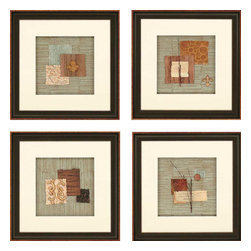 Paragon - Nature Collage PK/4 - Framed Art - Each product is custom made upon order so there might be small variations from the picture displayed. No two pieces are exactly alike.