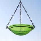 Achla Designs Fern Green Hanging Birdbath - 12-1/2-inch diameter by 3-inch d