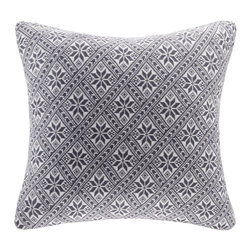 Madison Park - Madison Park Snowflake Knit Square Pillow - Add some comfort and style into your home with this square snowflake knit pillow. The snowflake pattern and soft grey colors add depth and dimension, while the knit adds a cozy touch. Hidden zipper closure with 95% feather 5% down filling provides a comfortable addition for you or your guests. 100% Polyester pattern knit cover; hidden zipper closure; Lining: 100% Polyester; Filling: 95% Feather 5% Down with microfiber cover