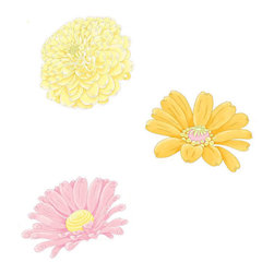 York Wallcoverings - Fairy Garden Wall Accent Set Pixie Flowers Stickers - Features: