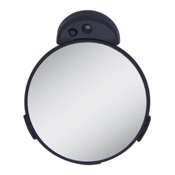 Zadro Products - Zadro 10X/5X LED Lighted Spot Mirror - Black - FC20L - Shop for Mirrors from Hayneedle.com! The straightforward design and function of the Zadro 10X/5X LED Lighted Spot Mirror Black will make it a subtle yet indispensible part of your bathroom decor. Inside the black frame is a durable mirror lit by energy-efficient LEDs. This mirror is double-sided with one side providing 10X magnification and the reverse side giving you a magnification of 15X. A 3-suction cup bracket will hold this convenient mirror firmly in place.About Zadro ProductsZadro Products has been a leading innovator in bath accessories mirrors cosmetic accessories and health products for over 25 years. Among the company's innovations are the first fogless mirror first variable magnification mirror first surround light mirror and more. Not a company to rest on its laurels Zadro continues to adapt to the ever-changing needs of modern life.