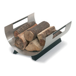 Blomus Chimo Log Basket Design By Andre Gilli Bl-65141 - Made of stainless steel.40 cm x 35 cm, H 20 cm