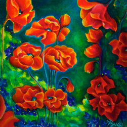 """The Secret Garden of Poppies and Violets""  (Original) by Debra Bucci - Life is hard and sometimes we just need a break."
