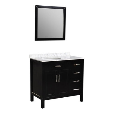 """Belmont Decor ST10D4-36 """"Ashland"""" single sink bathroom vanity - APPLY COUPON CODE """"EDHOUZ50"""" AT CHECKOUT. JUST OUR WAY OF SAYING THANKS."""