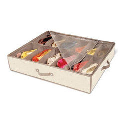 Dazz Underbed Shoe Storage with Cedar, Natural Canvas - This under-bed canvas storage bin is perfect for holding out-of-season shoes and clearing up some space in your closet. I love that it comes with cedar inserts as well to keep everything smelling fresh throughout the year.