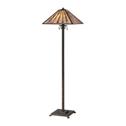Quoizel Lighting - Quoizel TFBK988IO Banks Indio Bronze Floor Lamp - 2, 100W A19 Medium