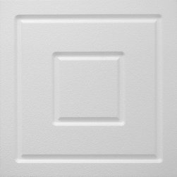 IDS Group - 2x2 White Decorative Ceiling Tile - Charlotte Design - Total Coverage: 32 SqFt (Box of 8)