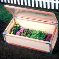 Sunshine - Sunshine Cold Frame Greenhouse - GKS - Shop for Greenhouses from Hayneedle.com! Additional FeaturesPeak height measures 16-inchesComes with a 5-year warrantySmall and versatile the Sunshine Cold Frame Greenhouse is rigid and lightweight making it easy to move to any garden area from your yard to your deck and even to your table. Four standard flats fit inside the 4- x 2-foot frame and twin wall polycarbonate panels help to protect your plants. The frame is constructed from beautiful natural redwood and the greenhouse comes with a five-year warranty.