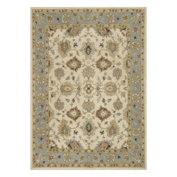 """Loloi Rugs - Hand Knotted Laurent Transitional Rug LRNTLE-04BESC - 2'-0"""" x 3'-0"""" - Hand-knotted of 100% wool from India, the Laurent Collection features a series of soumak rugs that add a touch of casual elegance to traditional and transitional rooms alike. Available in a series of hand-dyed earthy colors."""