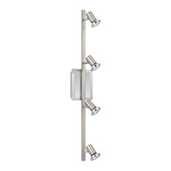 EGLO - Eglo 200094A Matte Nickel/Chrome 4X50W Track Light - EGLO 200094A Matte Nickel/Chrome 4X50W Track Light