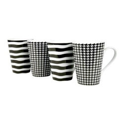 Konitz Assorted Escapada Mugs - Set of 4 - About Waechtersbach USAIf you're looking for big, bold color at the dinner table, you've found it with the distinctive designs of Waechtersbach USA, the US division of the renowned German company. Since 1832, Waechtersbach has been crafting colorful ceramic products that celebrate the beauty of color, from everyday dinnerware to more formal serving ware. Waechtersbach has been in business for over 175 years and they always keep an eye on contemporary environmental needs with their dedicated manufacturing processes that utilize optimal machinery and expend less carbon dioxide.