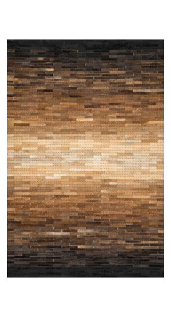 "Loloi Rugs - Loloi Rugs Tahoe/Hemingway Collection - Sunset, 5' x 7'-6"" - The rugged elegance of the Tahoe Collection is perfectly suited for a variety of settings from a cozy cabin to a chic southwestern loft. Comprised of a variety of unique patterns, the collection is constructed from 100% cowhide and hand stitched in China."