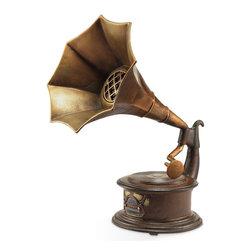 "SPI - Gramophone Bluetooth Speaker - -Size: 22"" H x 18"" W x 12"" D"