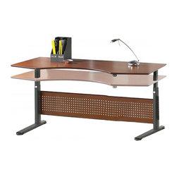 "Jesper Office Furniture - 2000 Series 75"" Prestige Sit-Stand Desk - Features:"