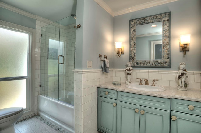 Beach Style Bathroom by Yoder Homes