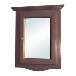 The Renovators Supply - Medicine Cabinets Dark Oak Fin Hardwood Corner Medicine Cabinet | 14337 ...