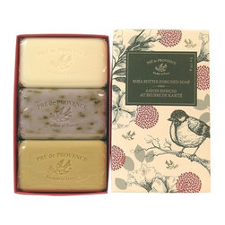 European Soaps - European Soaps Heritage Gift Box, Set of 3 - Lavender, verbena and milk soaps with shea butter come in a lovely package that would make the perfect gift — whether for a friend or just for you. Can't decide? Try them all!