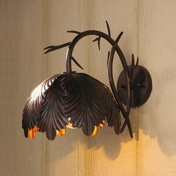 Rustic Oak Leaf Outdoor Light