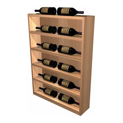 Wine Cellar Innovations - Designer Series Wine Rack - Vertical Display Cabinet - The Vertical Display provides the perfect showcase for the jewels of your collection. The units are designed to finish off the end of a waterfall wine rack creating a continuous display of your finest wines._