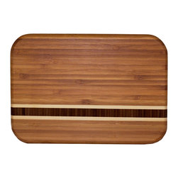 Totally Bamboo Barbados Cutting Board - The Totally Bamboo Barbados cutting board is distinctively attractive featuring a solid grain bamboo inlay.Product Features                        Solid grain inlay            Harder than maple