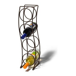 Spectrum Curve 4 Bottle Wine Rack - Venetian Bronze - The Spectrum Curve 4 Bottle Wine Rack has metal construction with Venitian Bronze finish for a golden tone. This wine rack holds up to 4 wine bottles in vertical formation. The curvy design is stylish and eye-catching. You can place this wine rack on the floor or your countertop. Dimensions: 6.75L x 5.75W x 21H inches. About Spectrum Diversified DesignsSpectrum Diversified Designs based out of Cleveland Ohio operates out of a 130 000 square foot distribution center and provides services to nearly every continent on the globe. With a specialized team of experts in art design and logistics Spectrum consistently provides top-quality products that are functional attractive and cost-effective. Spectrum is dedicated to providing you with only the best in home accessories. From the kitchen to the bath and all in between you'll find exactly what you need for all of your home needs. The possibilities are endless.