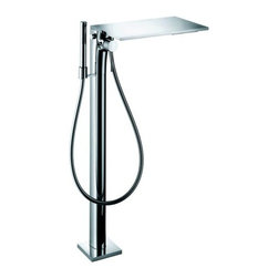 """Hansgrohe - Axor Tub Filler w/ Diverter, Hand Shower, Hose, Tub Spout, Shelf - Less Valve - Axor Massaud Tub Filler Faucet Free Standing with Diverter, Multi Function Hand Shower, 49"""" Techniflex Hose, Non Diverter Tub Spout and Shelf Less ValveMounts on floor beside tub M2 ceramic cartridge Boltic handle lock Diverter for Hand shower Handshower with 2 spray modes: full and mono 63"""" techniflex hose Valve required - Must be ordered separately *Certain areas require for this unit to be pressure balanced. Check your local plumbing codes. You may purchase the in-line pressure balance valve separately - 13418"""